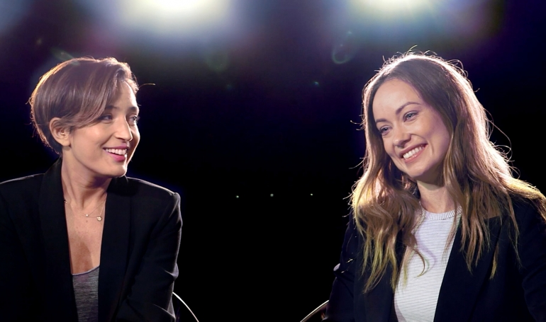 Reed Morano and Olivia Wilde at Savannah Film Festival 2015