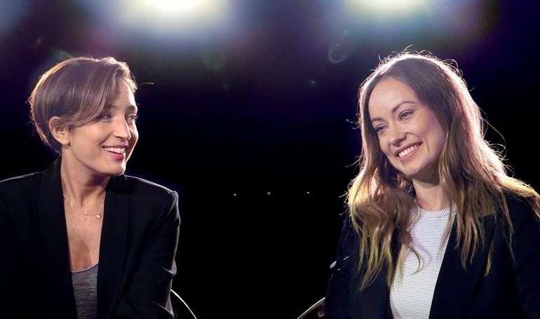 Reed Morano and Olivia Wilde at Savannah Film Festival 2015